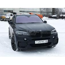 BMW X5 F15, окраска масок и птф в черный цвет