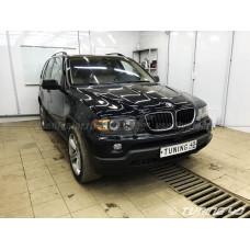 BMW X5 E53, Замена линз и Установка Ангельских глазок.