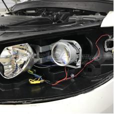 Hyundai Santa Fe (2006-2012) на Hella 3R Переходная рамка NEW