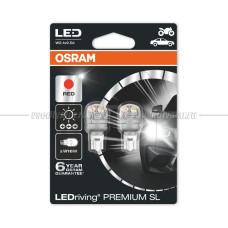 OSRAM LED PREMIUM COOL RED W16W, 2шт.