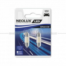 NEOLUX COLD WHITE LED C5W, 31мм, 6000K