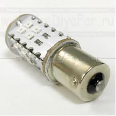 BA15S-404R Светодиодная лампа P21W, 4х1Вт. (Стоп сигнал)