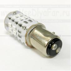 BAY15D-404R Светодиодная лампа P21W, 4х1Вт. (Стоп сигнал)