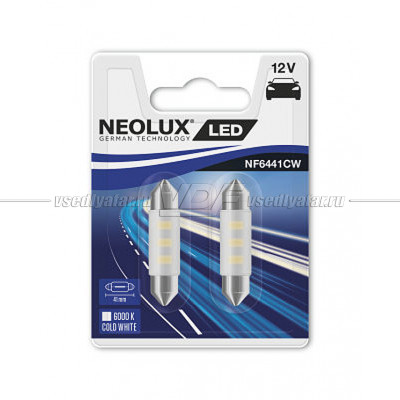 NEOLUX COLD WHITE LED C5W, 41 мм, 6000K