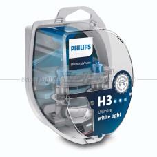 Лампа галогенная PHILIPS H3 Diamond Vision 12V 55W (PK22s), 2 шт.
