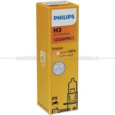 Лампа галогенная PHILIPS H3 Vision 12V 55W, 1 шт.