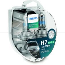 Лампа галогенная PHILIPS H7 X-treme Vision Pro150 +150% 12V 55W (PX26d), 2 шт.