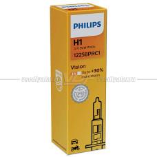 Лампа галогенная PHILIPS H1 Vision 12V 55W, 1 шт.