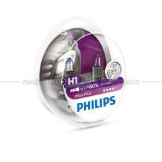 Лампа галогенная PHILIPS H1 Vision Plus 12V 55W, 2 шт.