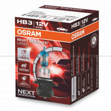 Лампа галогенная OSRAM HB3 Night Breaker Laser 12V 60W, 1шт.