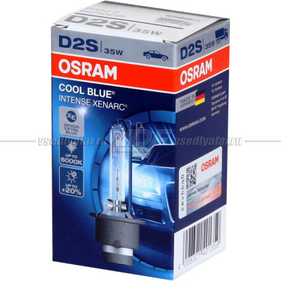 OSRAM D2S Xenarc Cool Blue Intense +20% 6000K 1 шт. 66240CBI