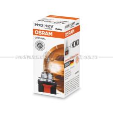Лампа галогенная OSRAM H15 Original 12V 15/55W, 1шт.