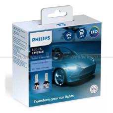 Светодиодная лампа PHILIPS HB3/HB4 Ultinon Essential LED 6500K, 2 шт.