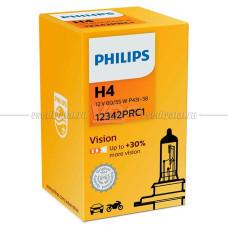 Лампа галогенная PHILIPS H4 Vision 12V 60/55W, 1шт.