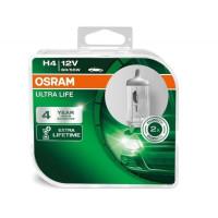 Лампа галогенная OSRAM H4 Ultra Life 12V 60/55W, 2шт.
