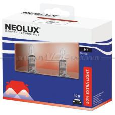 Лампа галогенная Neolux H1 12V-55W (+50% света) Extra Light DuoBox, 2 шт