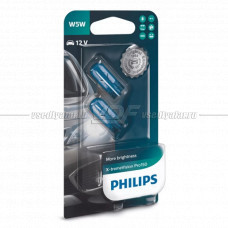 Лампа накаливания PHILIPS W5W X-treme Vision Pro150 12V 5W, 2шт